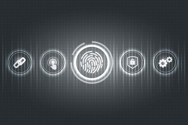 Conceito de segurança biométrica