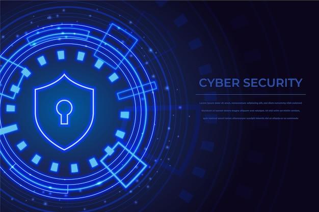 Conceito de segurança cibernética com trava
