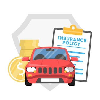 Conceito de seguro de carro. idéia de proteção de veículos contra acidentes