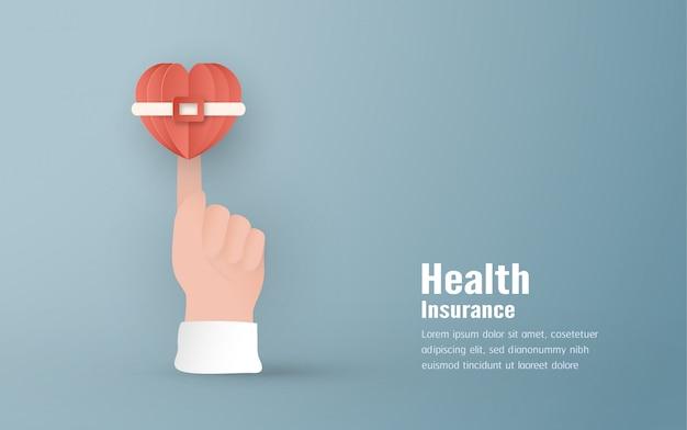 Conceito de seguro de saúde.