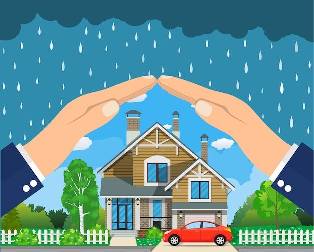 Conceito de seguro residencial