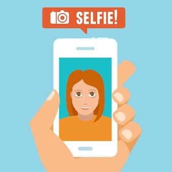 Conceito de selfie de vetor