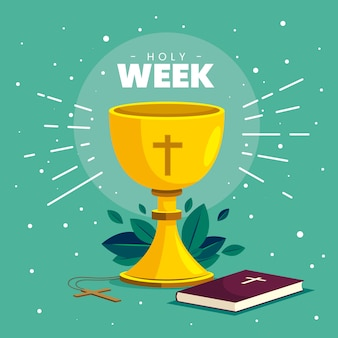 Conceito de semana santa de design plano