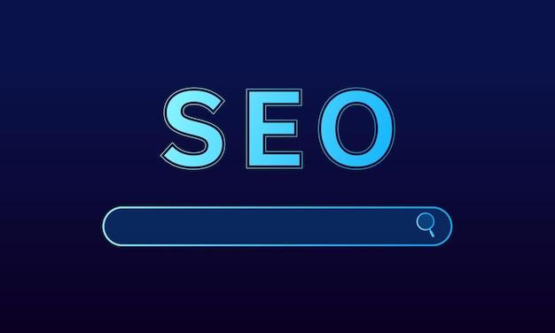 Conceito de seo, otimização de mecanismos de pesquisa, site de classificação de marketing, conceito de navegação
