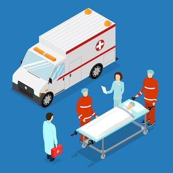 Conceito de serviço de ambulância