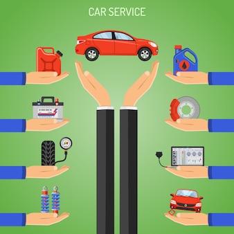 Conceito de serviço de carro