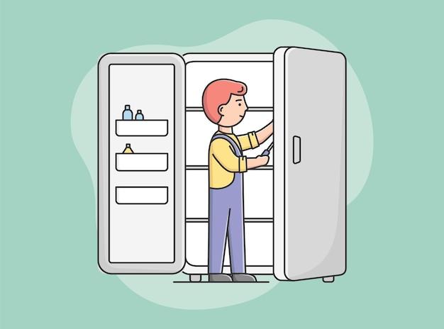 Conceito de serviço de eletrodomésticos elétricos.
