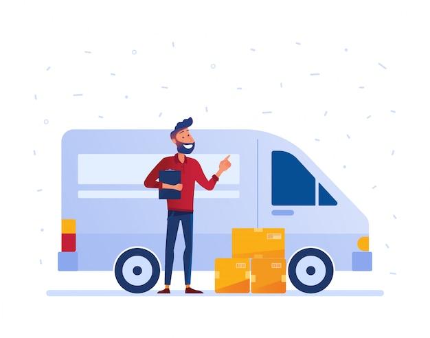 Conceito de serviço de entrega local.