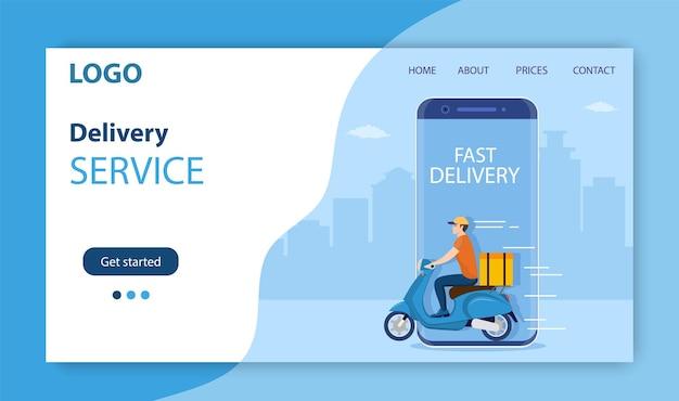 Conceito de serviço de entrega online