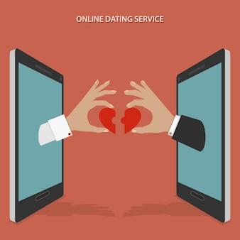 Conceito de serviço de namoro online.