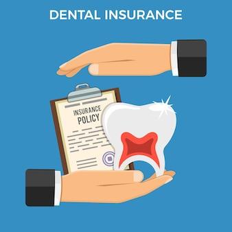 Conceito de serviço de seguro odontológico.