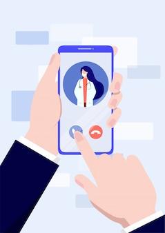 Conceito de serviço médico móvel. ilustração