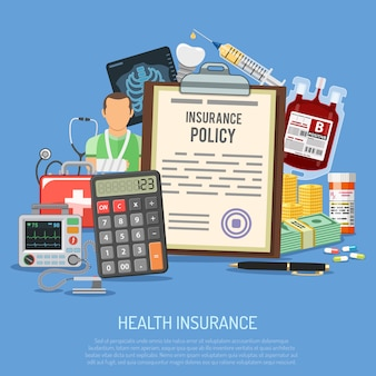Conceito de serviços de seguro de saúde