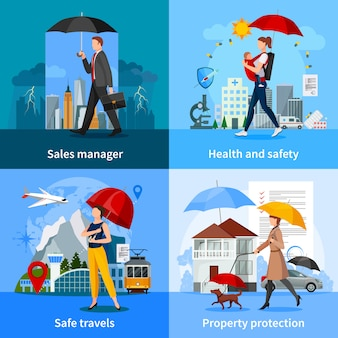 Conceito de serviços de seguros