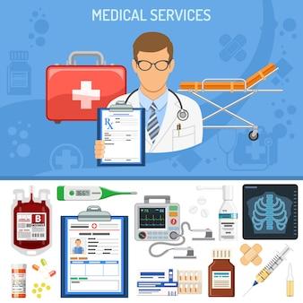 Conceito de serviços médicos