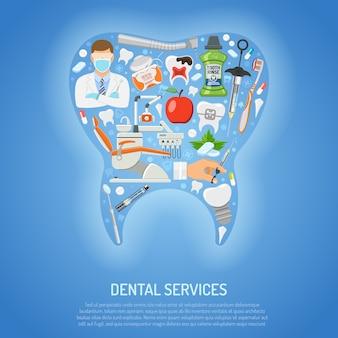 Conceito de serviços odontológicos