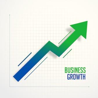 Conceito de seta de gráfico de etapas de crescimento de negócios