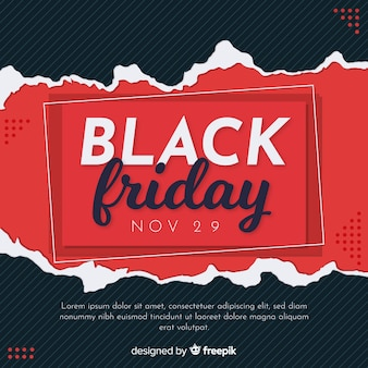 Conceito de sexta-feira negra com fundo design plano