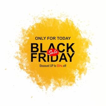 Conceito de sexta-feira negra com respingos de aquarela