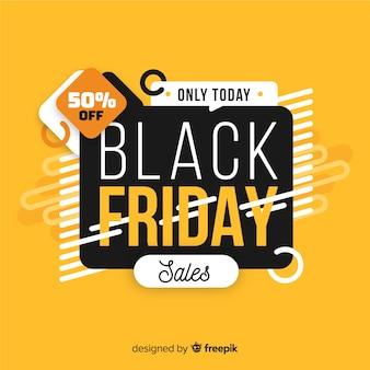 Conceito de sexta-feira negra com vendas apenas hoje