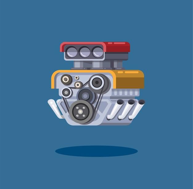 Conceito de símbolo de turbo do motor de carro