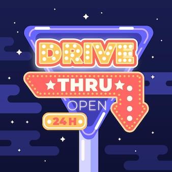 Conceito de sinal de drive thru