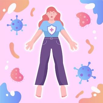 Conceito de sistema imunológico ilustrado