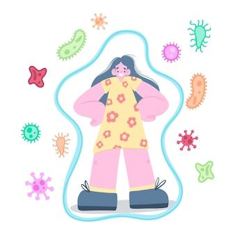Conceito de sistema imunológico