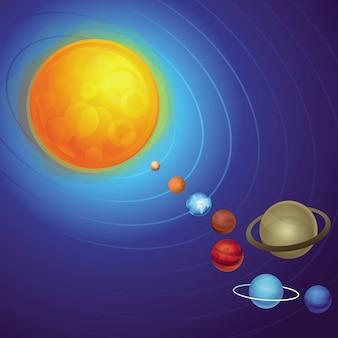 Conceito de sistema solar de vetor