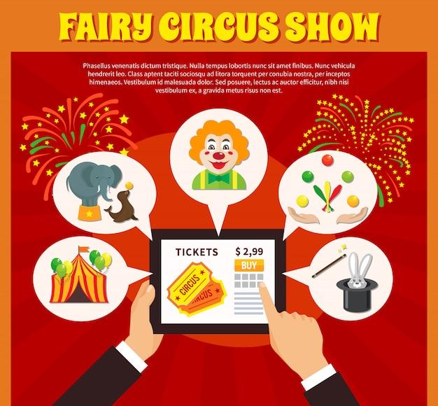 Conceito de site de circo