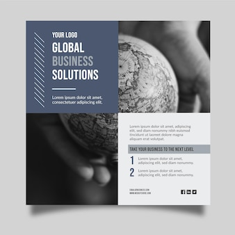 Conceito de solução de negócios globais