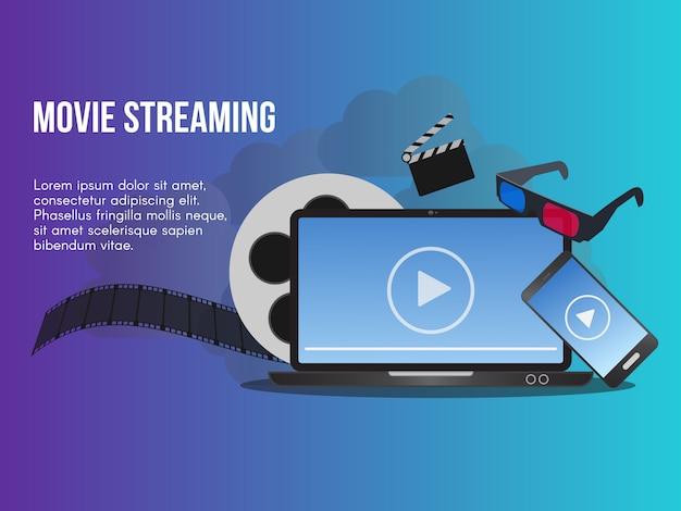 Conceito de streaming de filmes