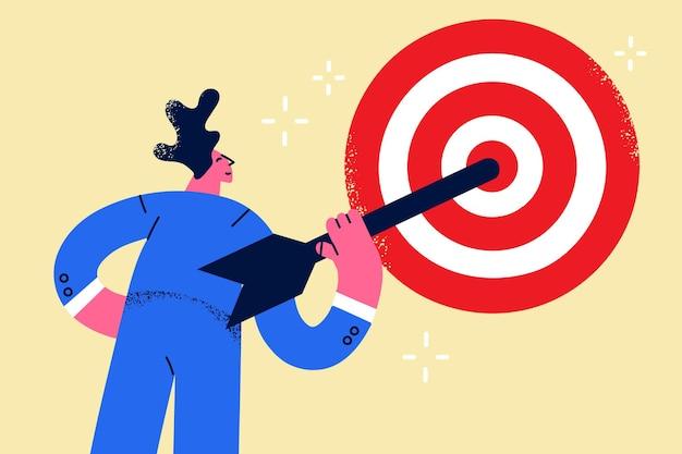 Conceito de sucesso de estratégia de objetivo de negócios