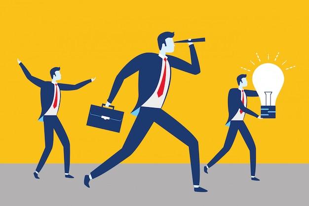 Conceito de sucesso de pessoas de negócios