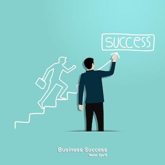 Conceito de sucesso do negócio