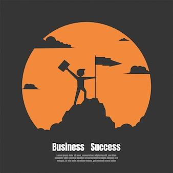 Conceito de sucesso financeiro de negócios