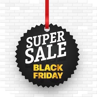 Conceito de super venda. ilustração em vetor banner venda sexta-feira negra