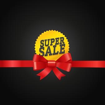 Conceito de super venda. ilustração vetorial