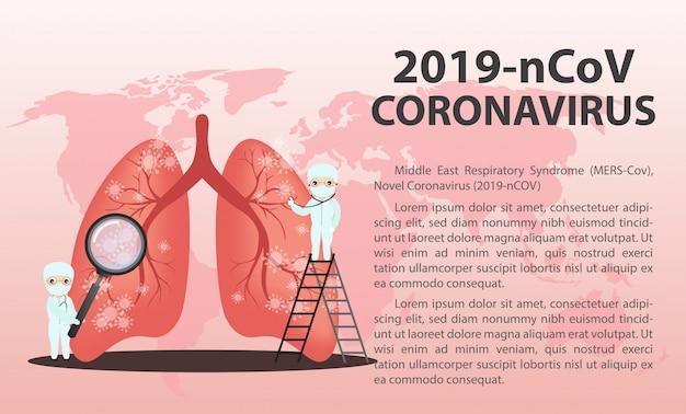 Conceito de surto de coronavírus de wuhan.