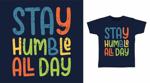 Conceito de t-shirt com tipografia