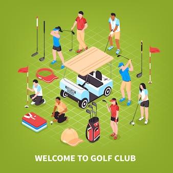 Conceito de taco de golfe