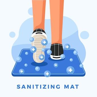 Conceito de tapete higienizador