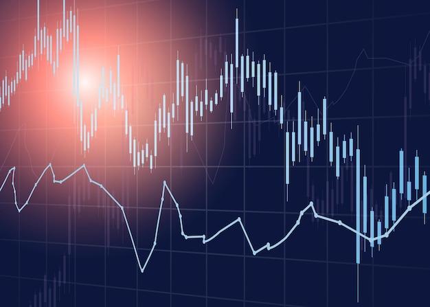 Conceito de taxa de dinheiro do gráfico de negociação