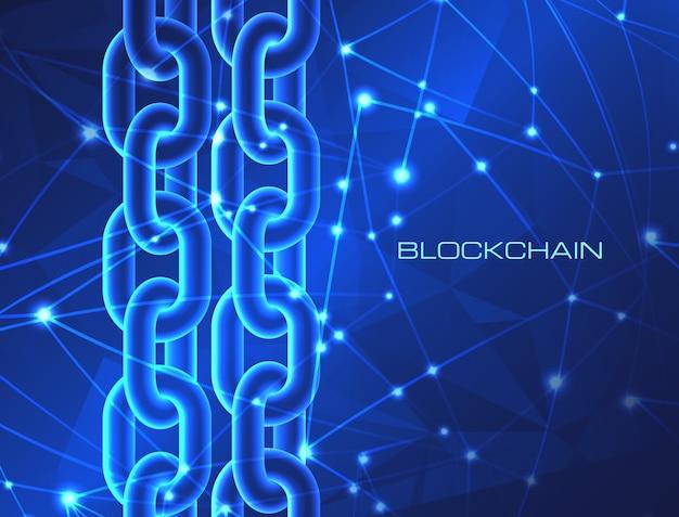 Conceito de tecnologia blockchain negócio de criptomoeda dados de banco de dados de cadeia de blocos