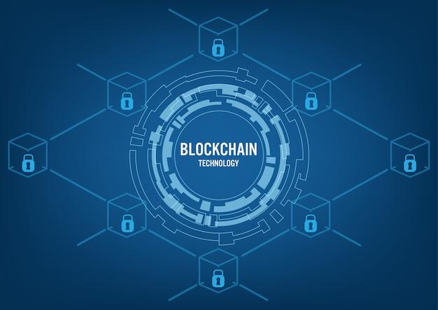 Conceito de tecnologia blockchain