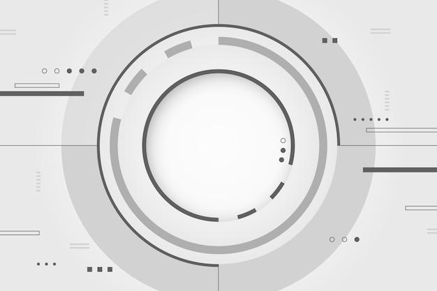 Conceito de tecnologia branco para plano de fundo
