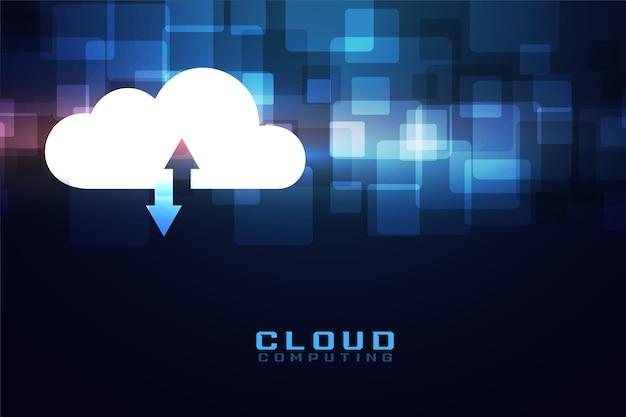 Conceito de tecnologia de computação em nuvem