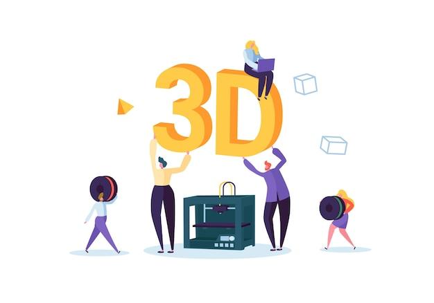 Conceito de tecnologia de impressão 3d