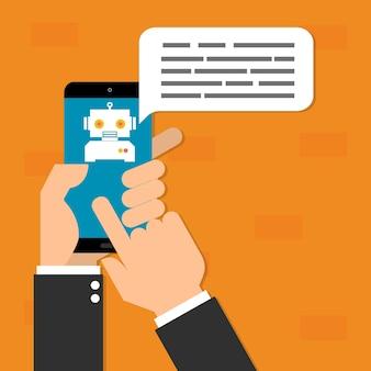 Conceito de tecnologia de inteligência artificial de chatbots ai