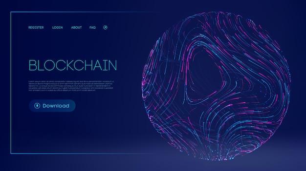 Conceito de tecnologia de moeda digital ilustração em vetor de desenvolvimento de internet de cadeia de blocos
